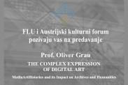Предавање професора Оливера Грау у Ректорату Универзитета уметности