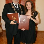 мр Зоран Ерић, ректор УУ и ред. проф. ФМУ и Бранка Поповић