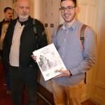 Ранко Бочина, ред. проф. ФПУ са студентом Жељком Шпицом