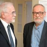 мр Бранимир Карановић, професор емеритус ФПУ и мр Срђан Хофман, професор емеритус ФМУ