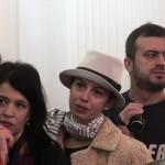 С лева на десно: Нела Михајловић, Наташа Нинковић, Сергеј Трифуновић