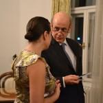 Амбасадор Португалије у Београду, његова екселенција Аугусто Жозе Пестано Сараива Пеишота  са сарадницом