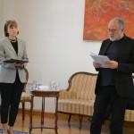 др Мирјана Николић, проректор УУ и мр Растко Ћирић, проректор УУ